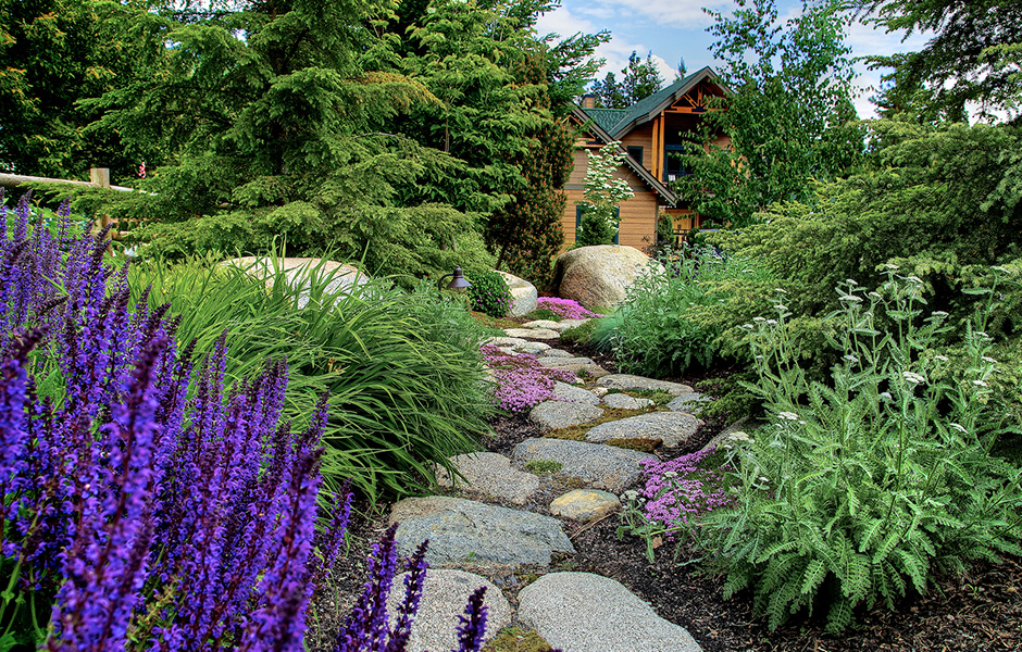 We think ahead about the meaning and intention of every passage before it's built. Landings and curves are all part of a whole that create the sensations you will experience in your new outdoor spaces.  A child may love a meandering trail from a fire pit to a play area, or your design may call for minimalist and efficient straight lines from A to B.